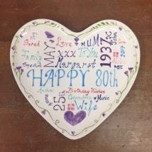 80th Birthday Plate
